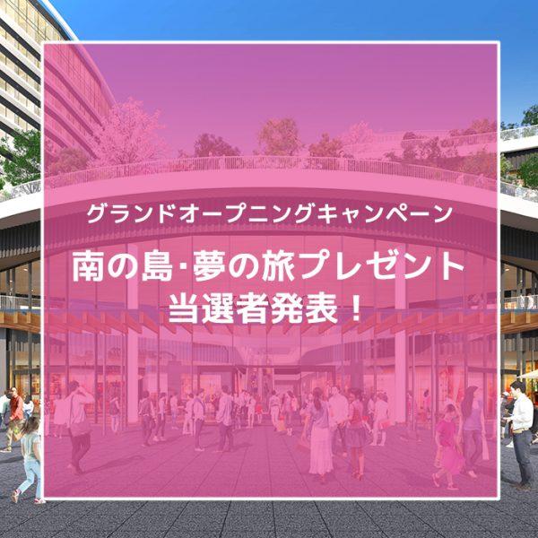 南の島・夢の旅 抽選結果発表!