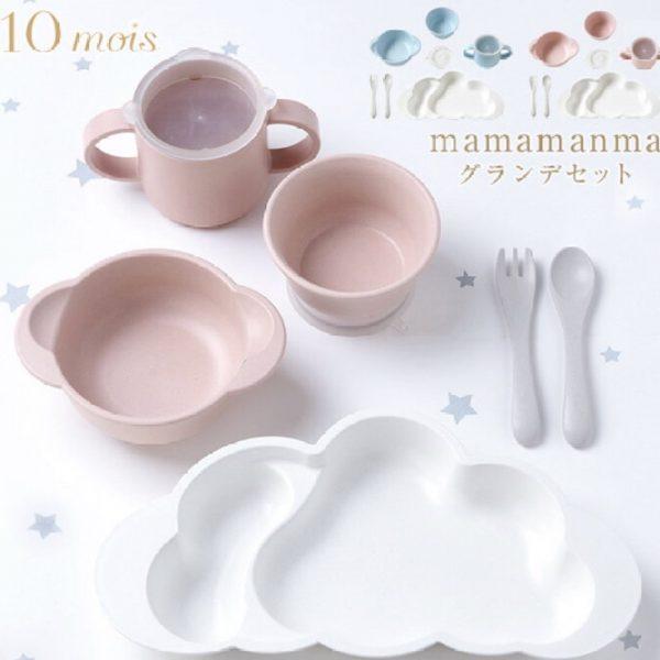 子供服専門店コグマより新生児食器セット【mamamanma】のご紹介です。