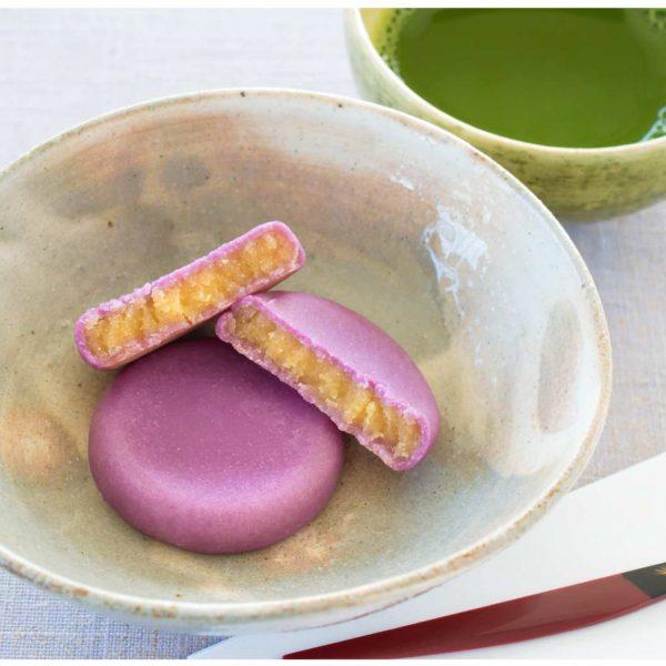 紫芋と唐芋のしっとり饅頭
